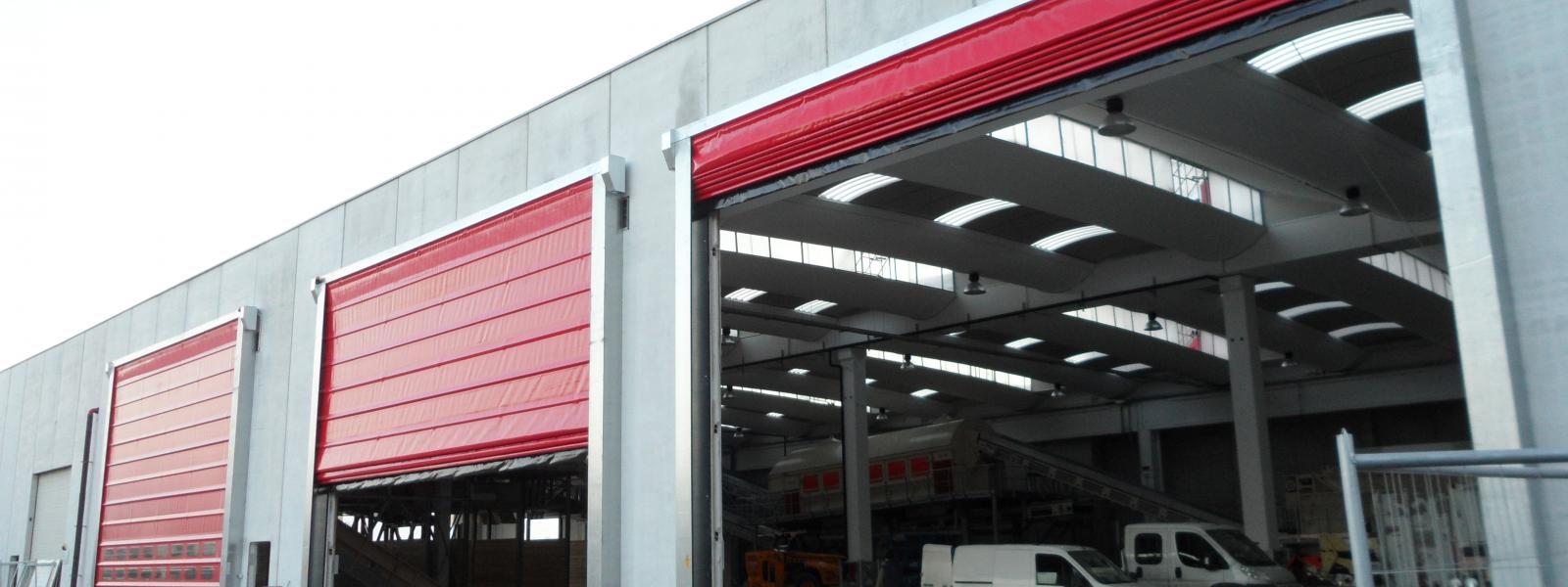 Rideaux metalliques volets roulants portes de garage marseille rigat fermetures - Porte de garage industrielle sectionnelle ...